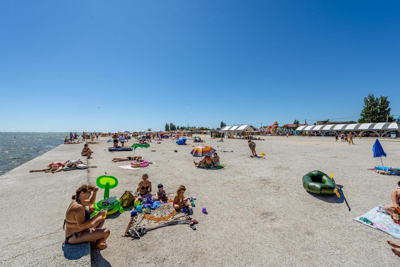 Центральный пляж Геническа